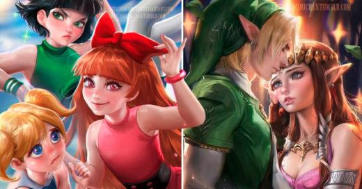 Cover Artista transforma estos 21 dibujos animados en animes