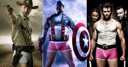 Cover Le quitaron los pantalones a los FAMOSOS: crean épica batalla de personajes célebres ¡EN CALZONCILLOS!