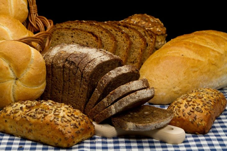 piezas de pan integral