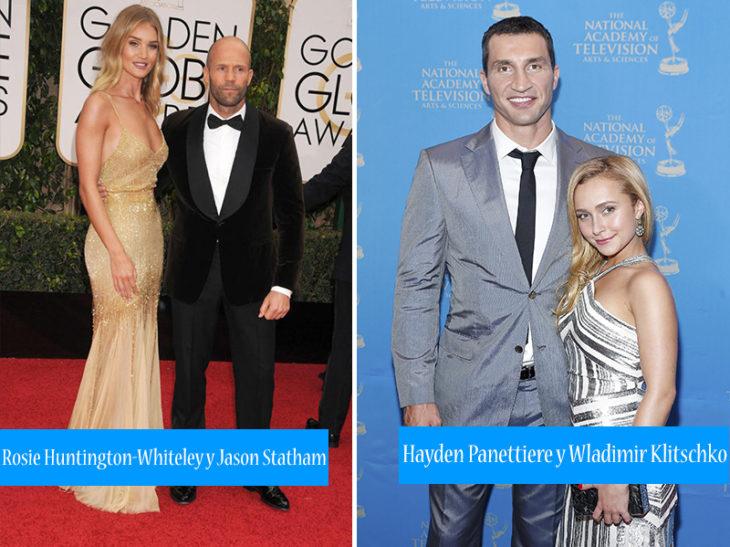 parejas diferente altura