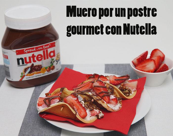 desayuno gourmet nutella