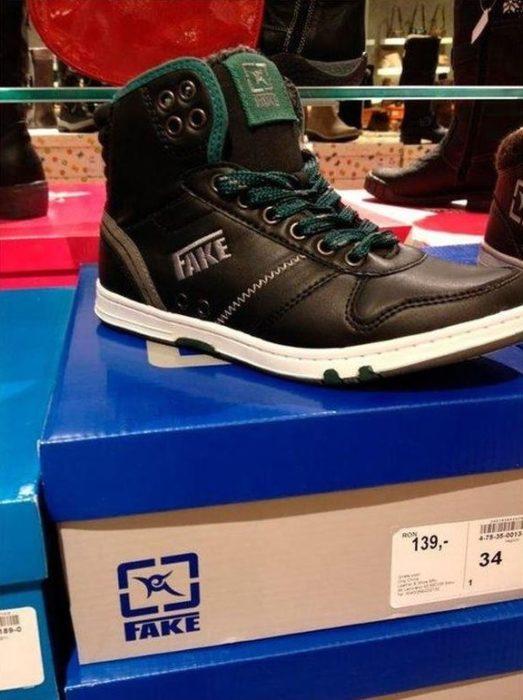 zapatos de la marcar falso
