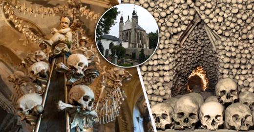 Cover Un artista ha decorado una iglesia con huesos de más de 40.000 esqueletos