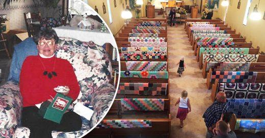 Cover Muere y decorar su altar con sus tejidos