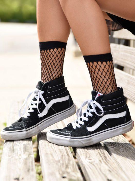 calcetas malla calada