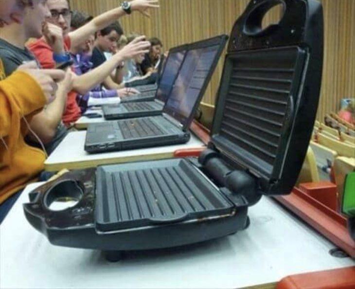 ssandwichera usada para tomar notas en clase