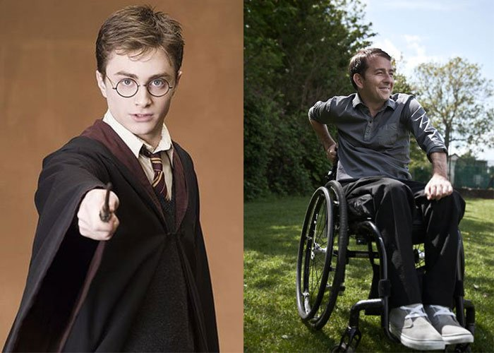 harry poter doble accidente paraplejico