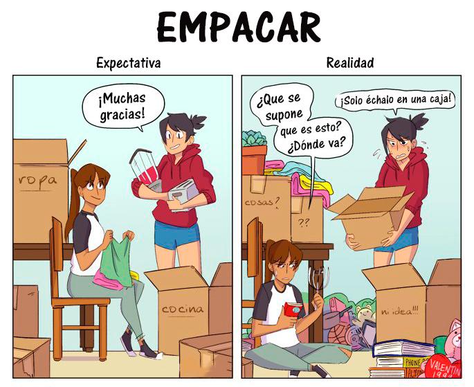 Expectativa Realidad mudanza - empacar