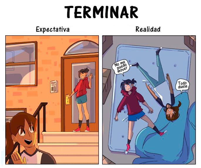 Expectativa Realidad mudanza - terminar