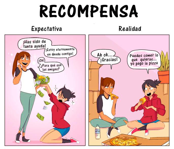 Expectativa Realidad mudanza - recompensa
