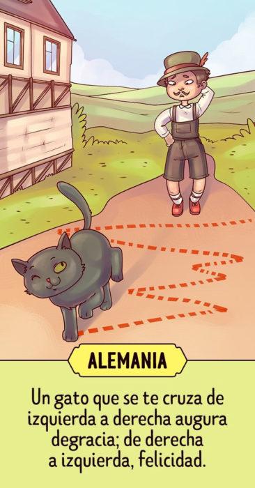 Supersticiones del mundo ilustración Alemania