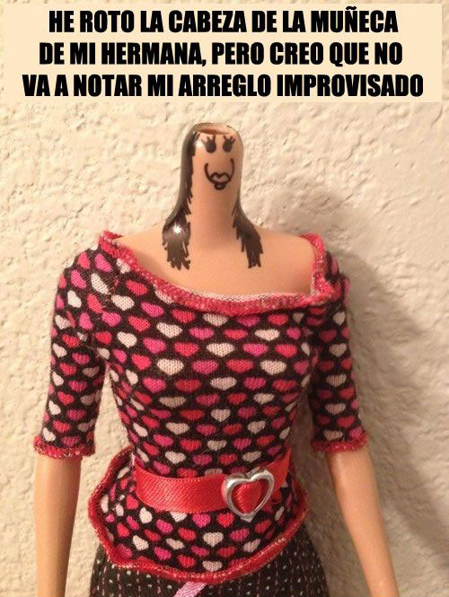 cabeza Barbie
