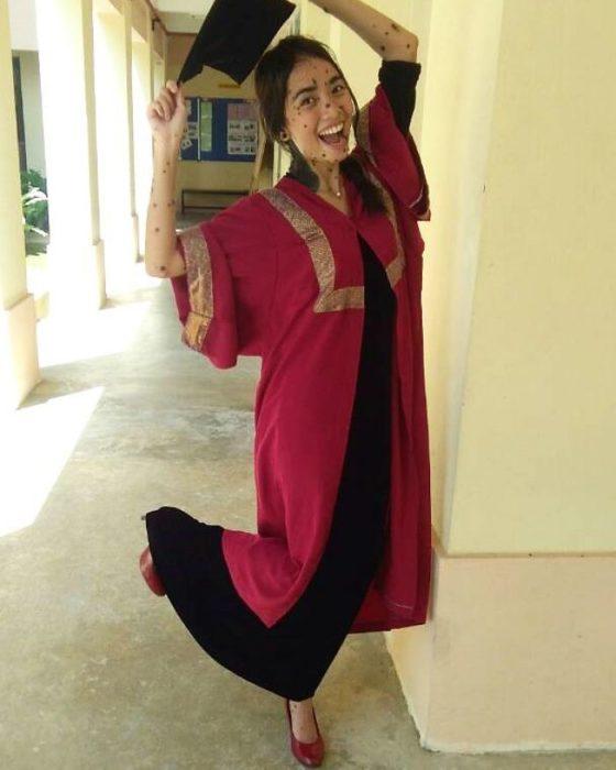 graduada chica de Malasya