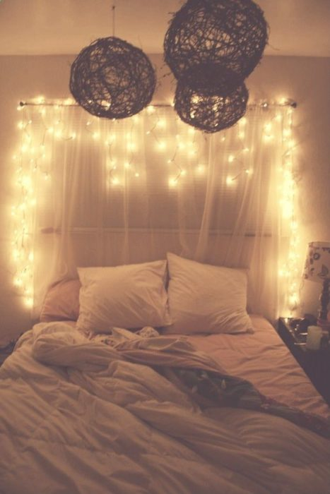 Base de cama con luces