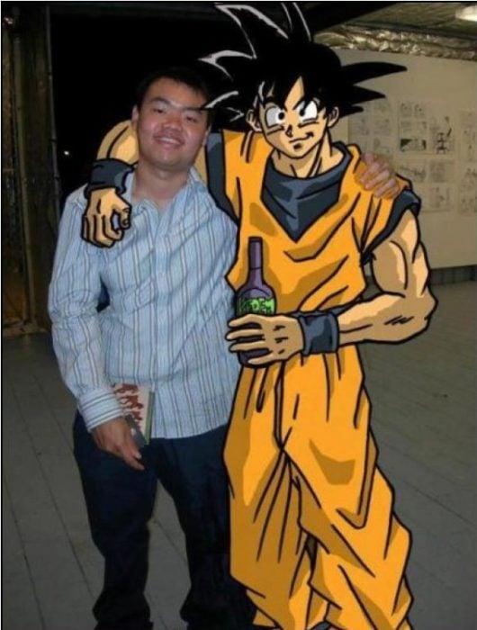 con mi mejor amigo Goku