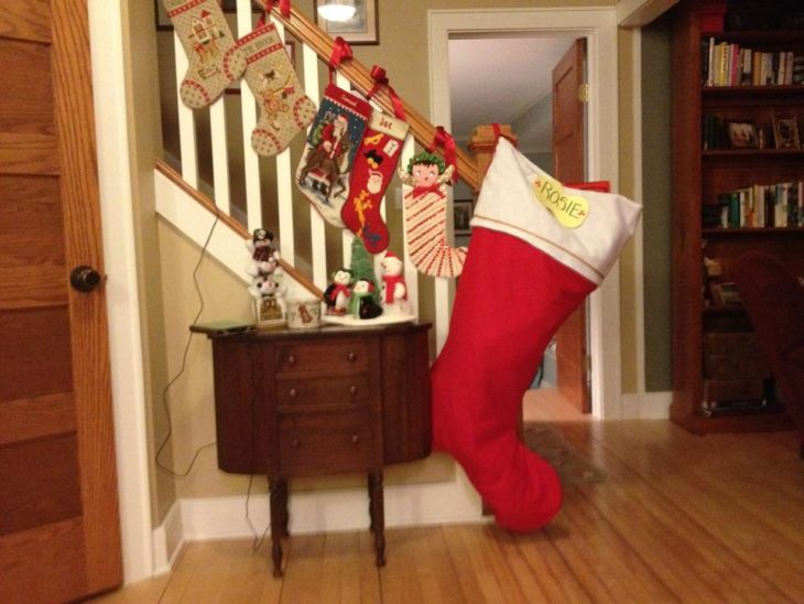 Familias troleras - bota navidad enorme