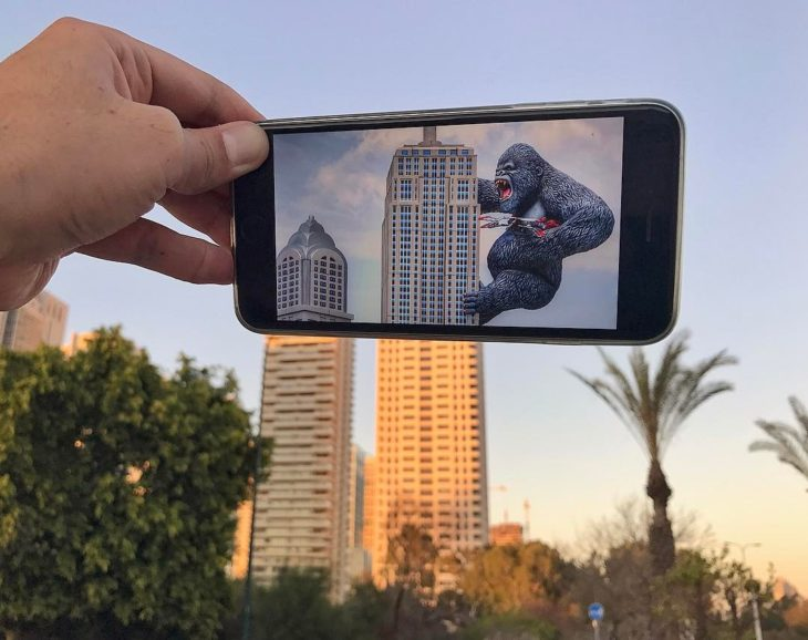 king kong en edificio
