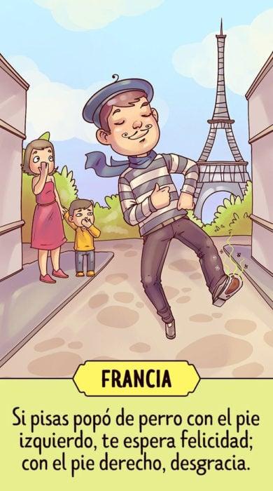 Francia Supersticiones del mundo ilustración