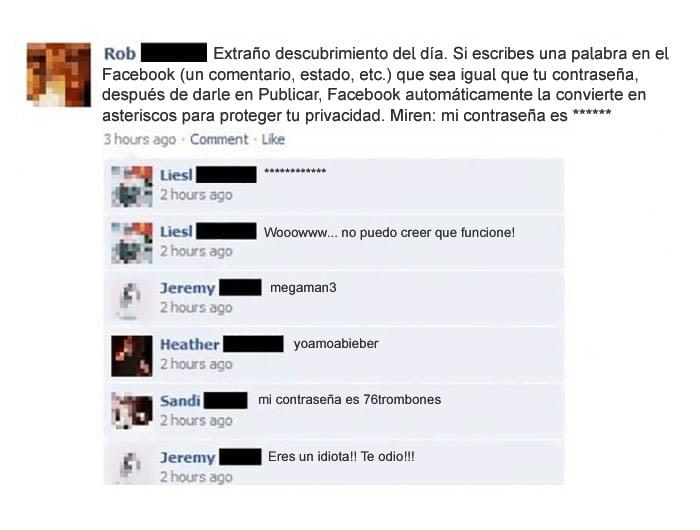 Gente tonta - contraseña facebook