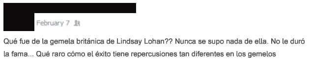 Gente tonta - gemela de Lindsay Lohan