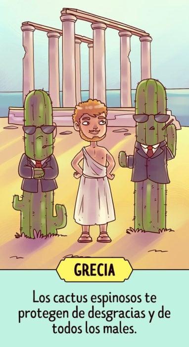 grecia Supersticiones del mundo ilustración