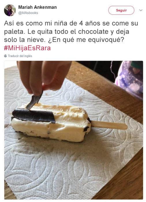 Tuits niños raros - comiendo paleta de nieve