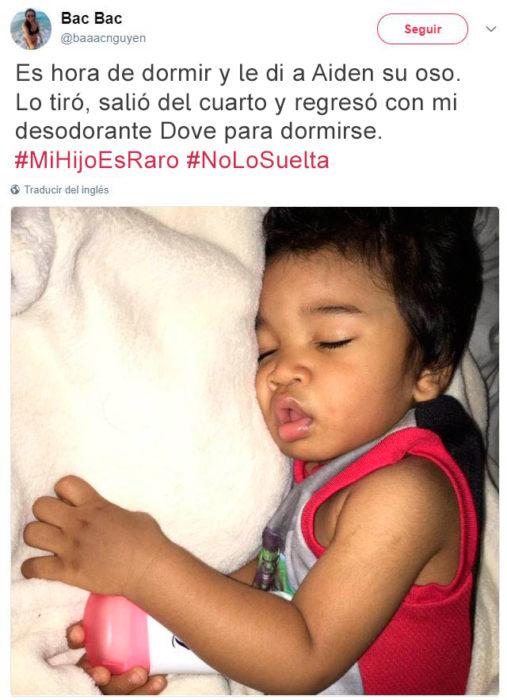 Tuits niños raros - dormida con desodorante dove