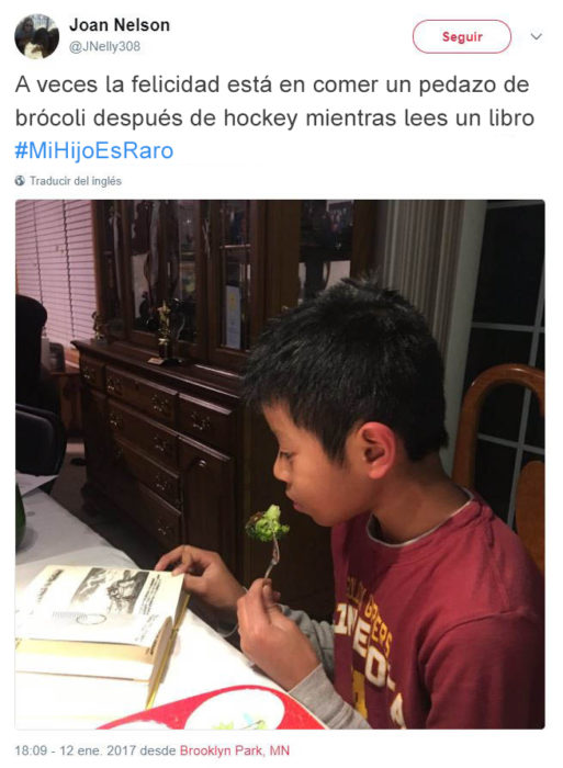 Tuits niños raros - comiendo brócoli