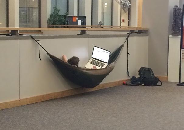 hamaca en la oficina