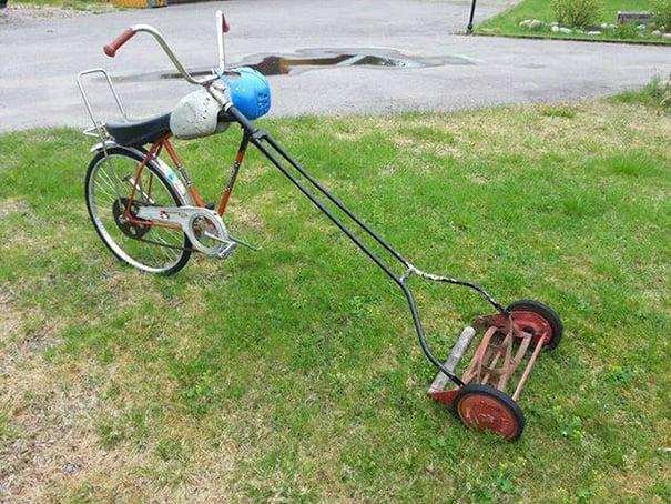 podadora bicicleta