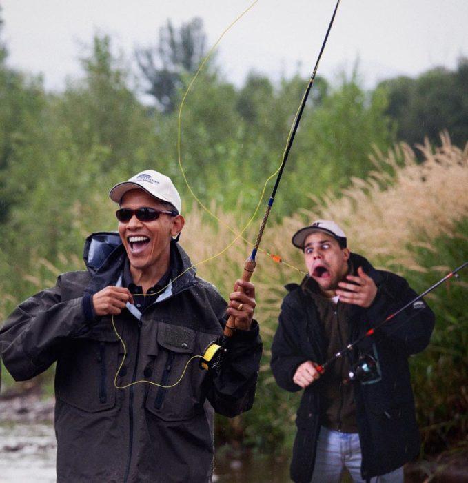 obama pesca