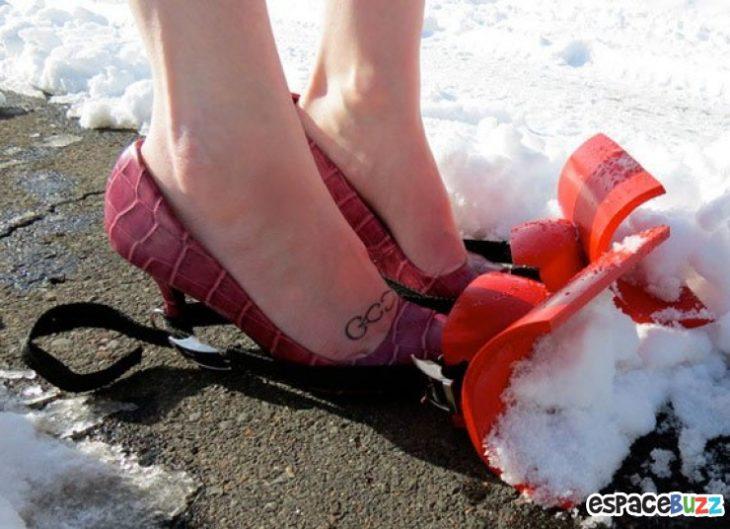 zapatos pala nieve