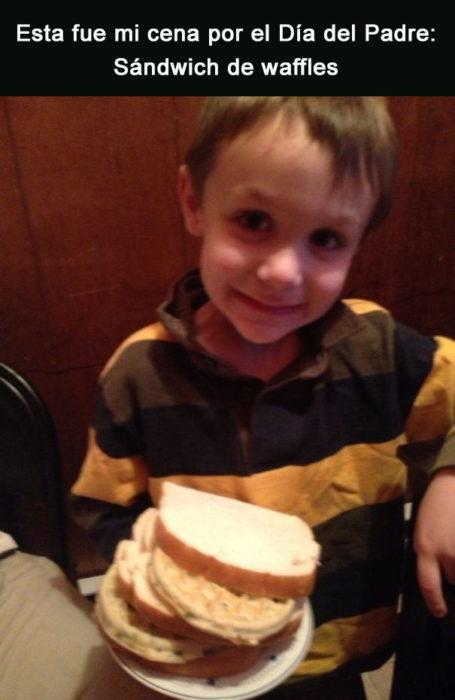 Sándwich de wafle
