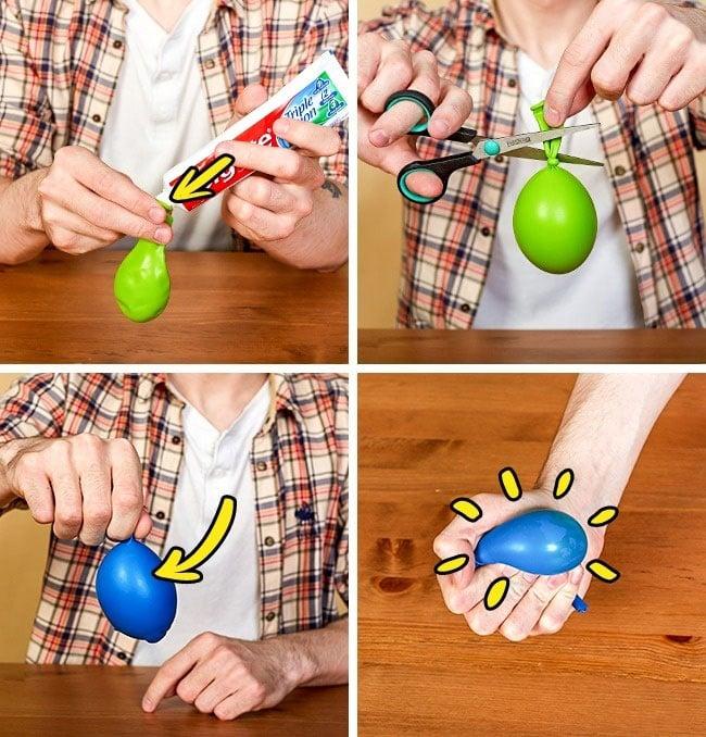pelota estrés harina globos