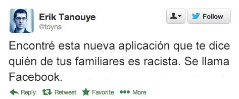 Tuits graciosos - familiares racistas