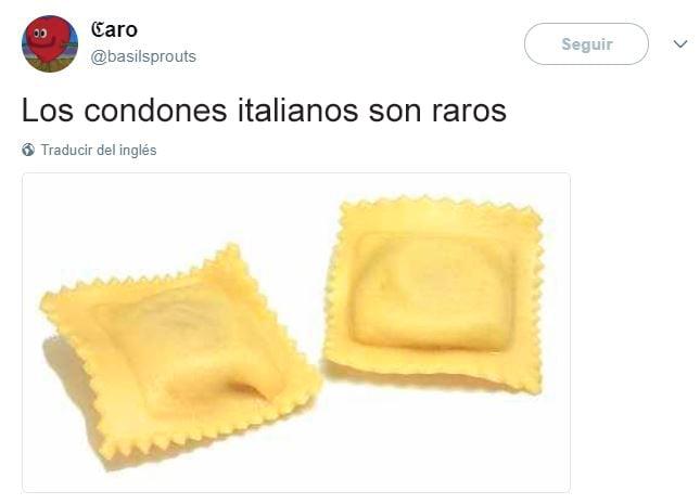Tuits graciosos - condones italianos