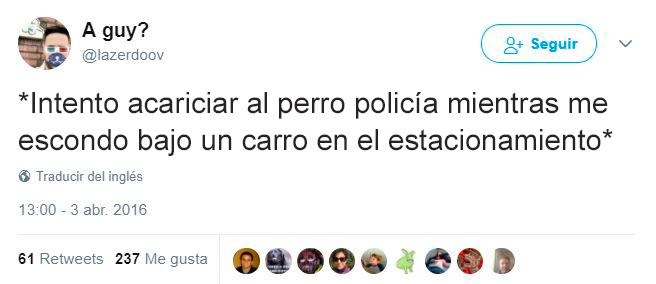Tuits perros policías