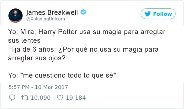 Tuits padres - harry potter