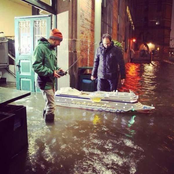 barco inundación