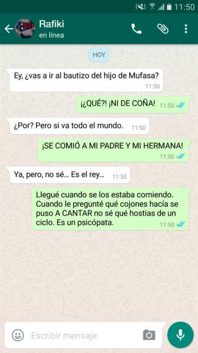 whatsapp rey león