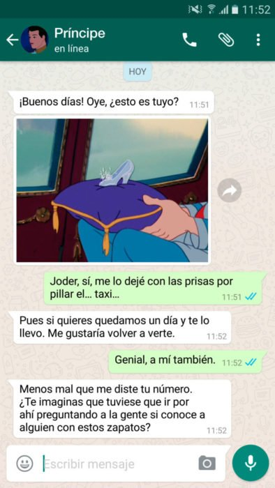 whatsapp cenicienta