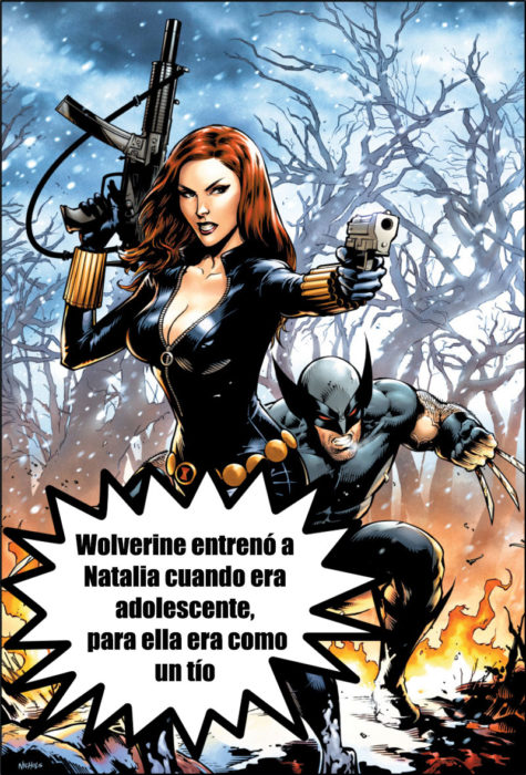 wolverine viuda negra universo marvel datos curiosos superhéroes