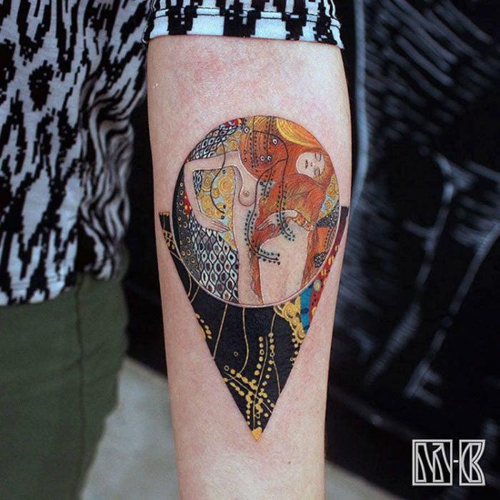 serpientes de agua hecho tatuaje