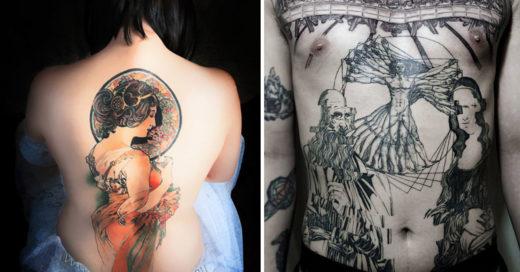 Cover tatuajes de arte maestros