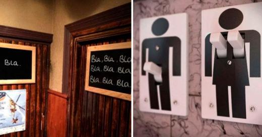 Cover Geniales letreros de baño que explican la diferencia entre hombre y mujer
