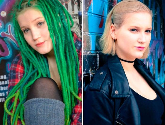 rastas verdes cambio de look