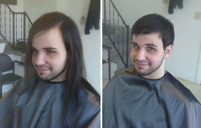 Cambio de look corte extremo hombre