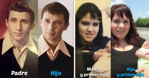 Cover Fotos familiares tomadas exactamente igual en distintas ocasiones de la vida