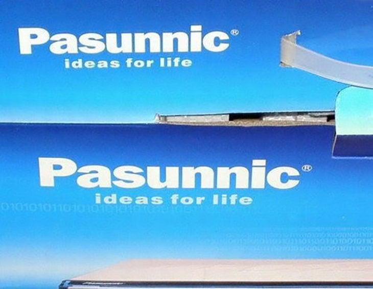 caja del logo de aparato imitando a Panasonic