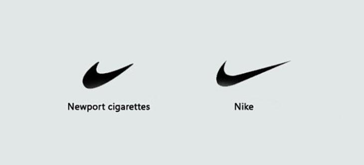 marca que imita el sello de la marca nike